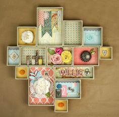 Family Shadow Box: Tim Holtz Idea-ology Altered Printer's Tray via Tania Willis for @Fiskars USA