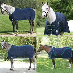 Buy four great SmartPak blankets together and save 10%! The SmartPak Deluxe Blanket Set includes the Deluxe Turnout Blanket in Medium Weight, Stable Blanket, Fleece Dress Sheet and Stable Sheet.