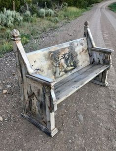 SOLD-Accepting Orders Antique Painted Church Pew Victorian Bench Gothic Furniture Ornate Wood Bench with Back White Chippy Paint Bench Victorian Benches, Antique Bench, Antique Farmhouse, Steampunk Furniture, Gothic Furniture, Painted Furniture, Painted Benches, Painted Coffee Tables, Wood Benches