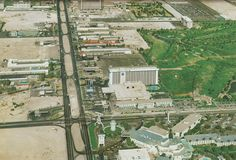 Las Vegas Strip at Tropicana Ave, circa Nov. 1975. Marina Hotel in the center. MGM Grand Las Vegas now takes this space, with the Marina's main hotel/casino building still intact as the western wing of the resort.Don't miss Mitzi Gaylor at Tropicana.
