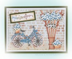 Leane Creatief Mal Bicycle With Baskets Paper Crafting, Basket, Bike Rides, Trellis, A3, Bicycles, Frame, September, Bench