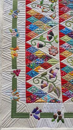 Sweet Surrender by Sue Cody, pieced by Beth and quilted by Judi Madsen Machine Quilting Patterns, Longarm Quilting, Free Motion Quilting, Quilt Patterns, Quilting Ideas, Quilting Stencils, Applique Patterns, Hand Quilting, Quilt Stitching
