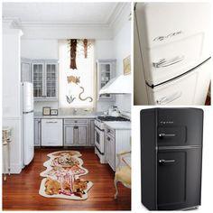 15 Essential Design Elements For a Perfectly Retro Kitchen. Click to discover more. #BigChill