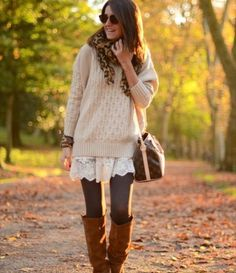 Cute-Cute!  Warm and cozy... and lace!