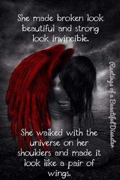 Red wings of a fallen angel. Fallen angel's wings are no longer white. Angel Quotes, Me Quotes, Moving Quotes, Funny Quotes, Dark Fantasy, Fantasy Art, Ange Demon, Angels And Demons, Dark Angels
