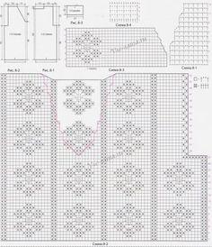 Схемы и выкройка для вязания топа