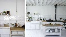 Azulejos rectangulares. Cocina rustica