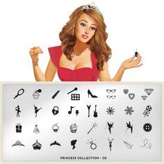 moyou Nail Art design Image Plates-Princess collection