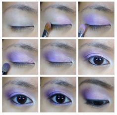 lavender/purple eyeshadow
