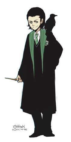 .... LOKI AS A SLYTHERIN. You're welcome.