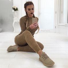 "Imogen ~ Foxy Locks on Instagram: ""C A S U A L Hair ~ using a few pieces of my @foxylocks.co.uk Luxurious 24"" Clip ins for braid volume Loungewear set ~ @misspap Shoes ~ Yeezys"""