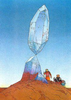art by Moebius (Jean Giraud): 1938 – Jean Giraud, Moebius Art, Moebius Comics, Serpieri, Ligne Claire, Desenho Tattoo, Bd Comics, Science Fiction Art, Art Graphique