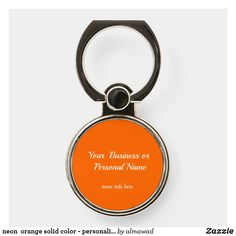 neon  orange solid color - personalized phone ring stand