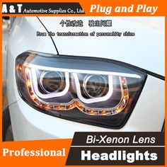 Car Styling Head Lamp for Toyota Highlander headlights 2009-2012 LED headlight Double U led drl H7 hid Bi-Xenon Lens low beam