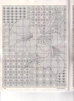 ru / Фото - The cross blackwork lilies - mornela Blackwork Cross Stitch, Blackwork Embroidery, Modern Embroidery, Cross Stitching, Cross Stitch Embroidery, Embroidery Patterns, Geek Cross Stitch, Cross Stitch Charts, Cross Stitch Designs