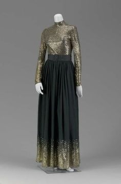 1969 Womans two-piece evening dress, Norman Norell from the Museum of Fine Arts, Boston