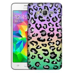 Samsung Grand Prime Rainbow on Black Leopard Slim Case