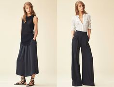 Culottes and cropped flares - Pants Make the Outfit in Natalie Ratabesi's New Vince Collection