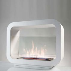 Standing Fireplace L White, 299€, now featured on Fab.