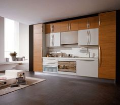Modern Italian Kitchen Design : Modern Italian Kitchen Wooden