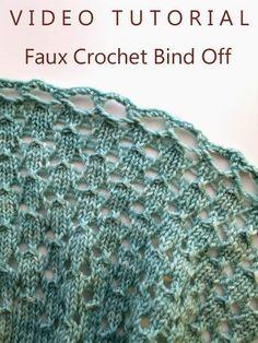 Knitting Like Crazy: Tutorial: Faux Crochet Bind Off