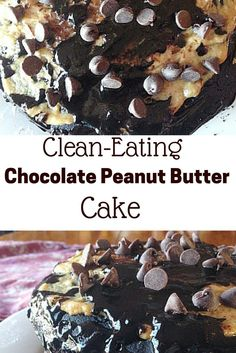 Looking for a Healthy Cake recipe that doesn't taste like it? Make this clean-eating Chocolate Peanut Butter Cake! It's so rich and chocolately that you won't believe its gluten-free and vegan!