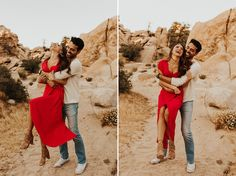 This engagement shoot at Joshua Tree National Park was warm, carefree, playful, and got me so inspired! Danielle and Jimmy were more gorgeous than the park! Engagement Photo Poses, Engagement Pictures, Wedding Engagement, Engagement Ideas, Pre Wedding Poses, Pre Wedding Photoshoot, Wedding Shoot, Couple Photography, Photography Poses
