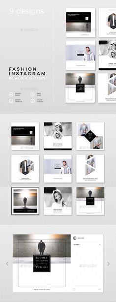 Fashion Instagram – Black Edition - Social Media Web Elements