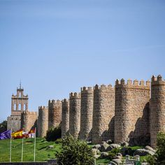 An outside view of the beautiful Walls of Avila.