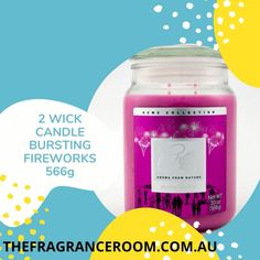 The aroma from Nature Range Double Wick 20oz candles has a burn time of approximately 90 hours. This high strength fragrance is BURSTING FIREWORKS . Fragrant Candles, Scented Candles, Candle Wax, Fireworks, Burns, Wicked, Strength, Fragrance, Range