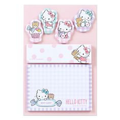 Hello Kitty notepad o(^▽^)o ハローキティ タックメモセット