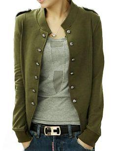 vrouwen blauw / zwart / groene jas, met lange mouwen 1698528 2016 – €12.73