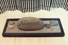 Zen Garden with 1 Engraved NAMASTE Rock & Natural by SandStudios, $15.00