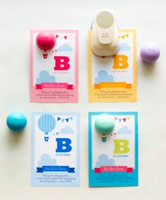 EOS Lip Balm Holder for Baby Shower Favors, Hot Air Balloon Baby Shower, Lip Balm Favor