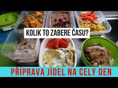 PŘÍPRAVA JÍDEL NA CELÝ DEN - Kolik to zabere času? - YouTube Healthy Recipes, Healthy Food, Oatmeal, Low Carb, Beef, Chicken, Breakfast, Ethnic Recipes, Youtube