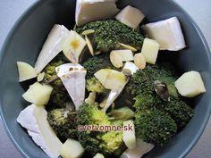 Jednoduchý brokolicový šalát so syrom.