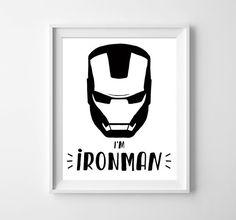 Ironman. Kids print. Kids poster. Nursery printable. Boys wall decor. Superhero prints. Boys nursery art. INSTANT DOWNLOAD by Motif Visuals