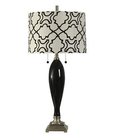 Loving this Black Glass & Steel Table Lamp on #zulily! #zulilyfinds