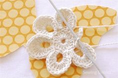 Crochet flower.  This reminds me of my first crochet lesson from my mom.  =)