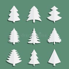 Illustration about Christmas fir-tree of an icon. Nine trees on a green background. Illustration of ornament, christmas, evergreen - 75274239 Tree Icon, Fir Tree, Free Illustrations, Green Backgrounds, Royalty, Icons, Christmas, Royals, Xmas