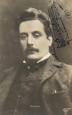 """Giacomo Puccini (1858–1924). Puccini's works are among the most frequently performed in the operatic repertoire and he has been called """"the greatest composer of Italian opera after Verdi""""."""