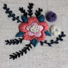 Free floral embroide