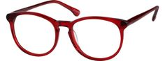 Order online, unisex red full rim acetate/plastic round eyeglass frames model #101218. Visit Zenni Optical today to browse our collection of glasses and sunglasses.