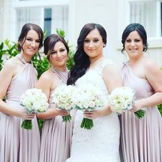 Breathtaking Melbourne bridal party @laura_tassone87 with her girls in their Goddess By Nature signature multiway ballgowns in the amazing blush pearl colour  Stockist Bridesmaids Dressing Room   #bridetobe #engaged #bohowedding #weddingbouquet #bridal #bride #bridalparty #bridalsquad #bridesmaids #weddingphoto #bridalbouquet #weddingflowers #goddessbynature #goddessbynaturebridalparty #weddingday #weddinginspo #bridesmaidsdress #bridesmaiddress #bridesmaidsdresses #bridesmaidgown #modernw