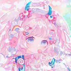 Manga Kawaii, Arte Do Kawaii, Loli Kawaii, Cute Anime Chibi, Cute Anime Pics, Kawaii Art, Kawaii Anime Girl, Anime Neko, Anime Girl Pink