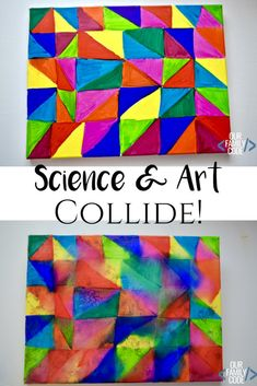 to Make Awesome Sharpie Art with Science! Our Family Code Learn about solubility, color mixing, and diffusion with Sharpie art on a canvas!Learn about solubility, color mixing, and diffusion with Sharpie art on a canvas! Cool Art Projects, Projects For Kids, Crafts For Kids, Family Art Projects, Stem Projects, Easy Crafts, Steam Art, Stem Steam, Creative Teaching