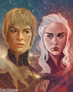 Winter is HERE! ❄️⚔ Who is ready for a new season of #GameOfThrones tonight? : Illustration by @philnoto