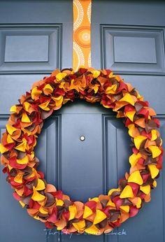 Paper Fall Wreath - Decor for the Holidays