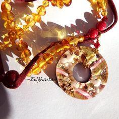 """OOAK SET Necklace Bracelet Earrings - """"Medieval GoldenRed"""" Amber /Rav /Bärnsten: Handmade Jewelry by Ziddharta by Ziddharta on Etsy"""