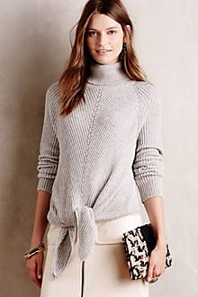 Anthro tie front sweater